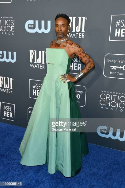 Billy Porter attends the 25th Annual Critics' Choice Awards held at Barker Hangar on January 12 2020 in Santa Monica California