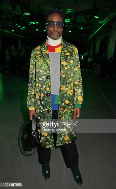 Billy Porter attends the Christopher Kane show during London Fashion Week February 2020 at The Mail Centre on February 17, 2020 in London, England.