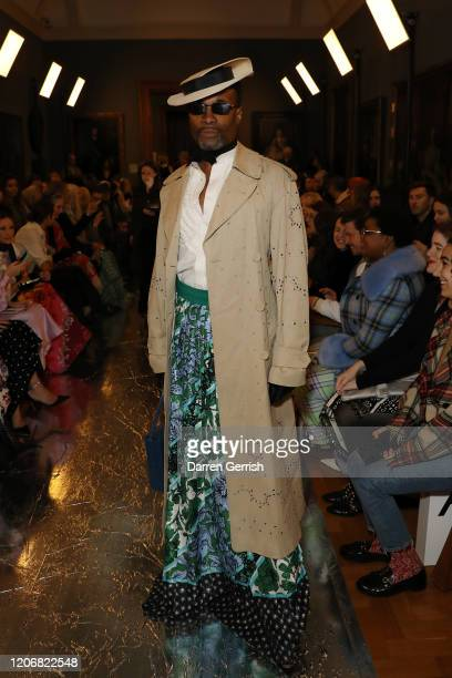 Billy Porter attends the Erdem show during London Fashion Week February 2020 on February 17 2020 in London England