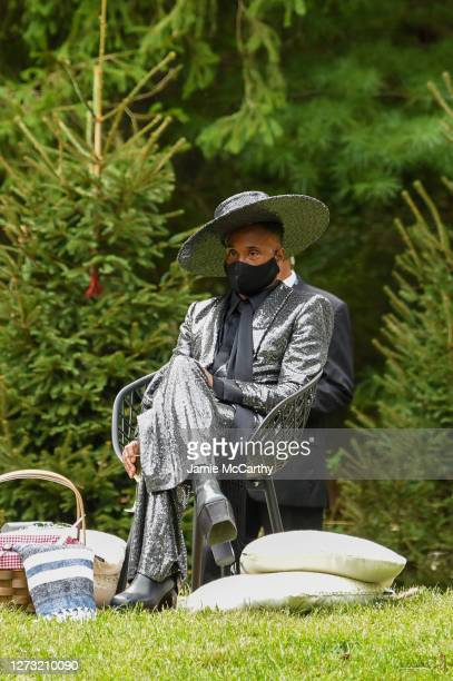 Billy Porter attends the front row during the Christian Siriano Collection 37 2020 Fashion Show on September 17 2020 in Westport Connecticut
