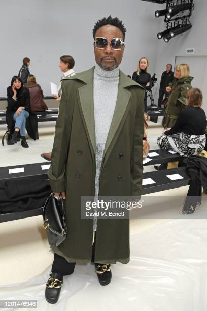 Billy Porter attends the JW Anderson show during London Fashion Week February 2020 at Yeomanry House on February 17, 2020 in London, England.