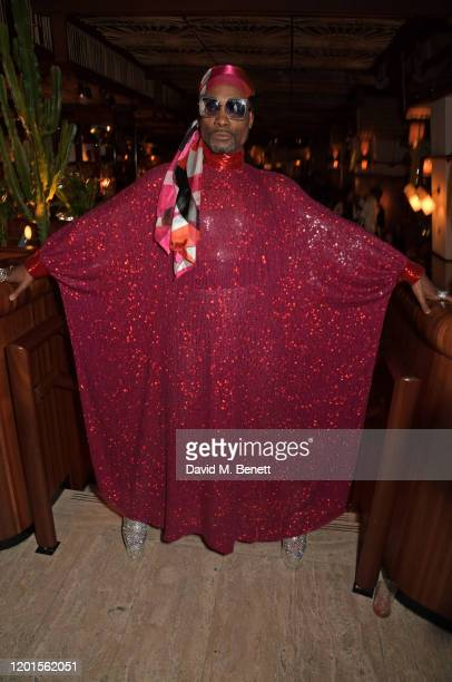 Billy Porter attends the LOVE Magazine LFW Party celebrating issue 23 at The Standard London on February 17 2020 in London England LOVE magazine is...