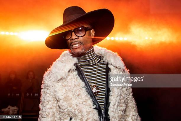 Billy Porter attends the Tommy Hilfiger fashion show during London Fashion Week February 2020 on February 16, 2020 in London, England.