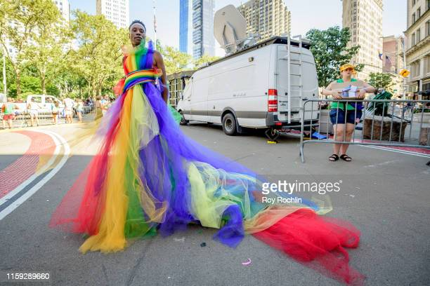 Billy Porter attends the WorldPride NYC 2019 March on June 30 2019 in New York City