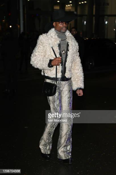 Billy Porter attends Tommy Hilfiger at Tate Modern during LFW February 2020 on February 16 2020 in London England