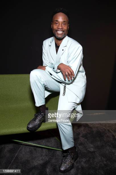 Billy Porter backstage at the British Fashion hub during London Fashion Week February 2020 on February 16, 2020 in London, England.
