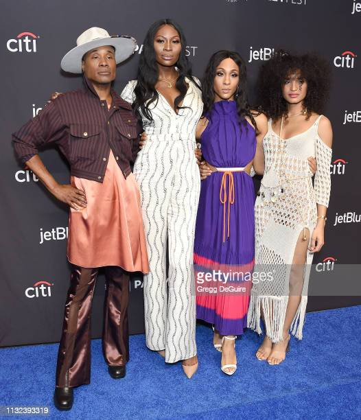 Billy Porter Dominique Jackson Mj Rodriguez and Indya Moore attend The Paley Center For Media's 2019 PaleyFest LA Pose at Dolby Theatre on March 23...