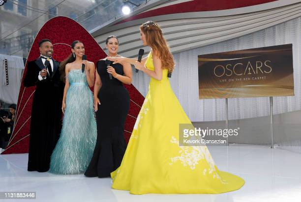 Billy Porter Elaine Welteroth Ashley Graham and Maria Menounos attend the 91st Annual Academy Awards at Hollywood and Highland on February 24 2019 in...