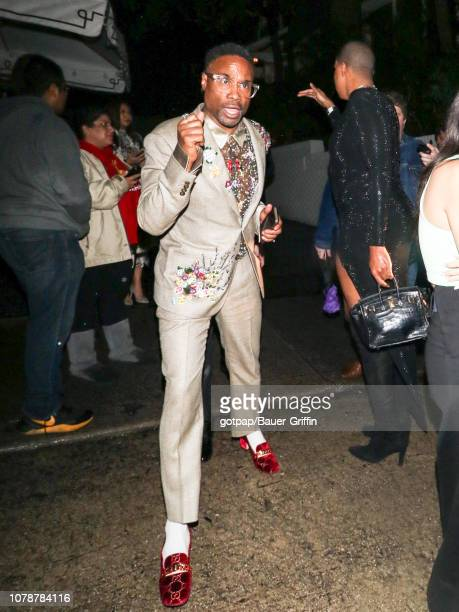 Billy Porter is seen on January 07 2019 in Los Angeles California