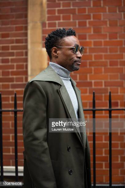 Billy Porter is seen outside JW Anderson during London Fashion Week February 2020 on February 17 2020 in London England