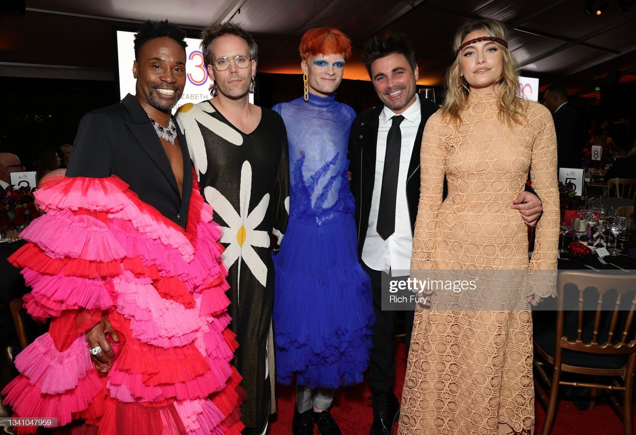 billy-porter-jake-wesley-rogers-paris-jackson-with-guests-during-the-picture-id1341047959