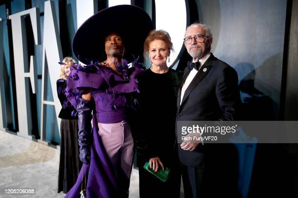 Billy Porter Kate Fahy and Jonathan Pryce attend the 2020 Vanity Fair Oscar Party hosted by Radhika Jones at Wallis Annenberg Center for the...