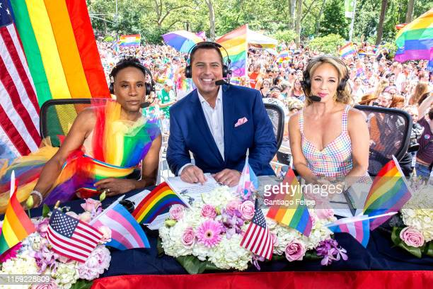 Billy Porter, Ken Rosato and Lauren Glassberg at WorldPride NYC 2019 on June 30, 2019 in New York City.