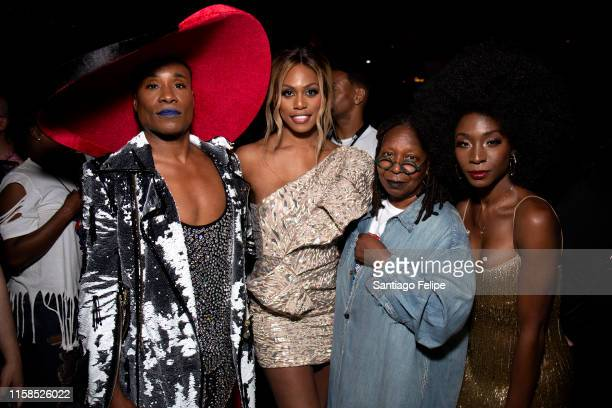Billy Porter Laverne Cox Whoopi Goldberg and Angelica Ross attend Opening Ceremony 'WorldPride NYC 2019' at Barclays Center on June 26 2019 in New...