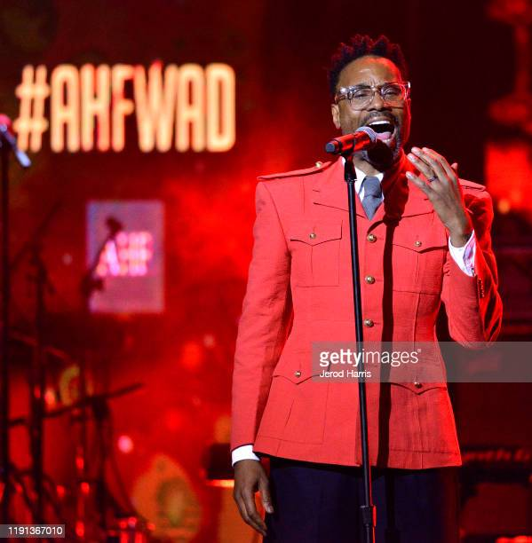 Billy Porter performs at AHF's free World AIDS Day 2019 concert hosted by Primetime Emmyaward winner Billy Porter at the historic Wilshire Ebell...