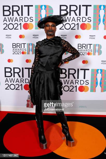 Billy Porter poses in the media room during The BRIT Awards 2021 at The O2 Arena on May 11, 2021 in London, England.