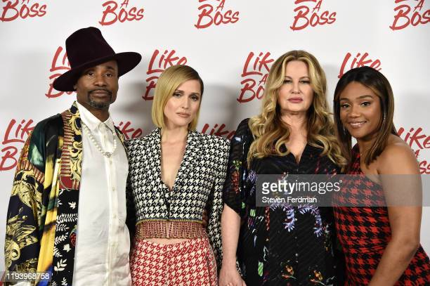 Billy Porter Rose Byrne Jennifer Coolidge and Tiffany Haddish attend the Like A Boss Photo Call at the Whitby Hotel on December 14 2019 in New York...