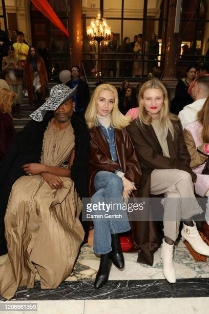 Billy Porter Sabine Getty and Candice Lake attend the Roksanda show during London Fashion Week February 2020 on February 16 2020 in London England