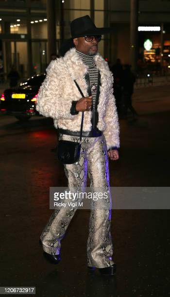 Billy Porter seen attending Tommy Hilfiger catwalk show at Tate Modern during LFW February 2020 on February 16 2020 in London England