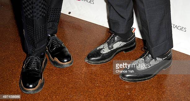 Billy Porter shoe detail and Adam Smith shoe detail attends 2015 Primary Stages Gala at 583 Park Avenue on November 16 2015 in New York City