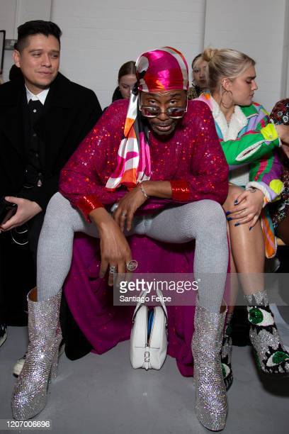 Billy Porter sits front row during 'Ashish' fashion show during London Fashion Week February 2020 on February 17 2020 in London England