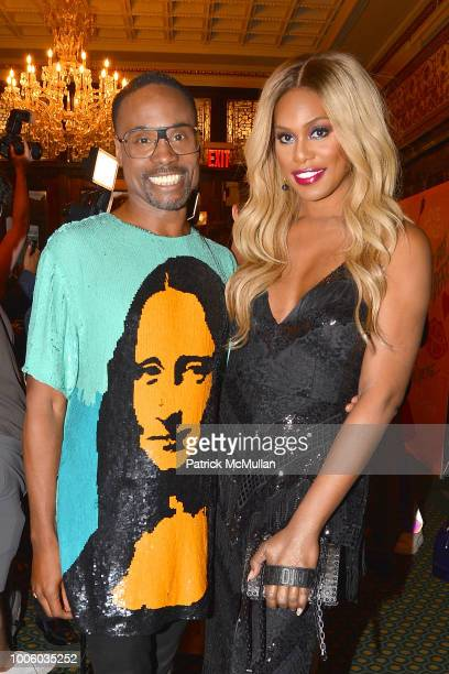 Billy Porter Smith and Laverne Cox attend the Head Over Heels Broadway Opening Night Party at Guastavino's on July 26 2018 in New York City