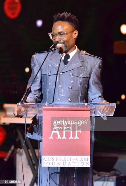 Billy Porter speaks at AHF's free World AIDS Day 2019 concert hosted by Primetime Emmyaward winner Billy Porter at the historic Wilshire Ebell...