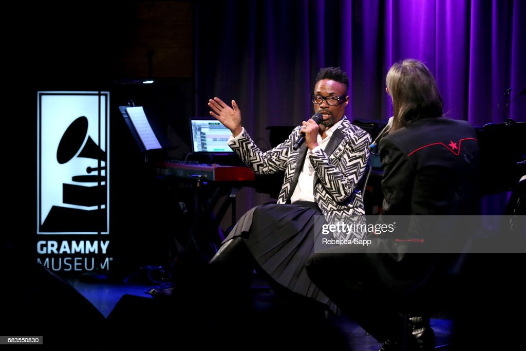 Billy Porter speaks with Executive Director of the GRAMMY Museum Scott Goldman at The Drop: Billy Porter at The GRAMMY Museum on May 15, 2017 in Los Angeles, California.