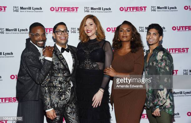 Billy Porter Steven Canals Our Lady J Janet Mock and Angel Bismark Curiel arrive at the 13th Annual Outfest Legacy Awards at Vibiana on October 28...