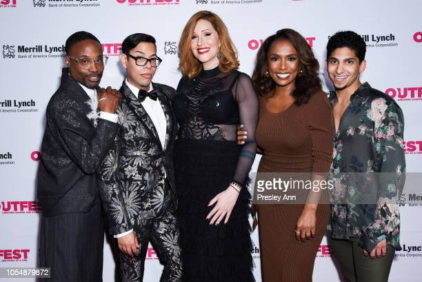 Billy Porter Steven Canals Our Lady J Janet Mock and Angel Bismark Curiel attend 13th Annual Outfest Legacy Awards at Vibiana on October 28 2018 in...