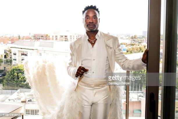 Billy Porter, styled by Sam Ratelle, poses for portraits before heading to The 77th Annual Golden Globe Awards Ceremony red carpet on January 05,...