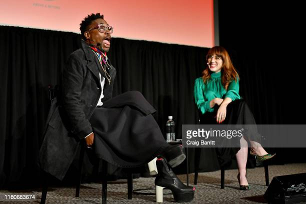 Billy Porter talks with Rachel Syme at the 2019 New Yorker Festival on October 12, 2019 in New York City.