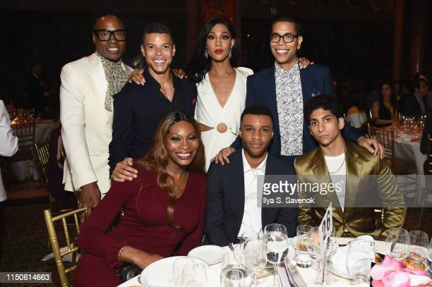Billy Porter Wilson Cruz MJ Rodriguez Steven Canals Dominique Jackson Dyllon Burnside and Angel Bismark Curiel attend the 2019 GLSEN Respect Awards...