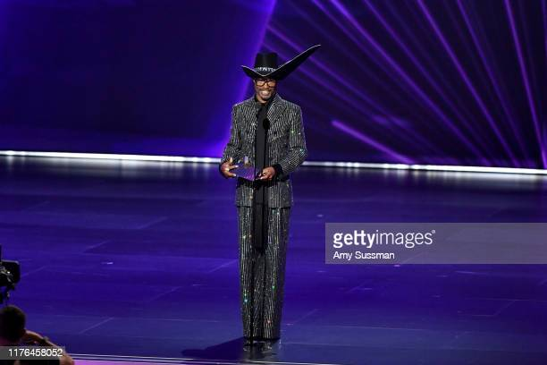 "Billy Porter wins the Outstanding Lead Actor, Drama award for ""Pose"" onstage during the 71st Emmy Awards at Microsoft Theater on September 22, 2019..."