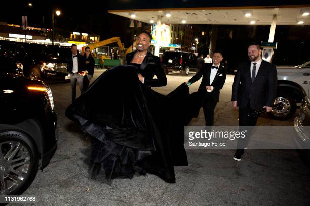 Billy Porter with stylist Sam Ratelle and Ryan Ratelle prepares for the afterparties after the 91st Academy Awards at Lowes Hollywood Hotel on...