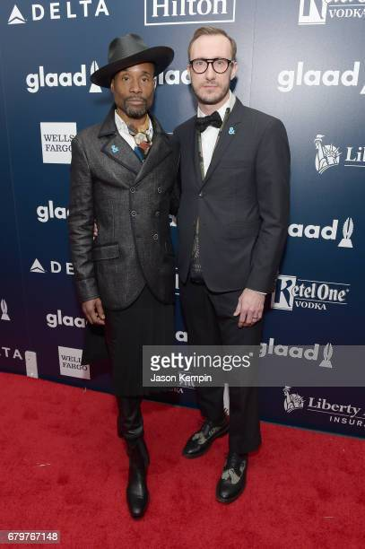 Billy PorterSmith and Adam PorterSmith attends 28th Annual GLAAD Media Awards at The Hilton Midtown on May 6 2017 in New York City