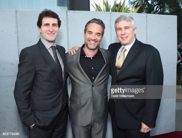 Billy Ray Amazon Head of International Productions Morgan Wandell and Christopher Keyser at the Amazon Prime Video premiere of the original drama...