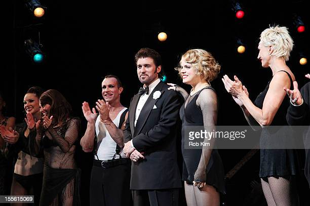 Billy Ray Cyrus Amy Spanger and AmraFaye Wright attend opening night curtain call for Billy Ray Cyrus' Broadway stage debut as Billy Flynn in Chicago...