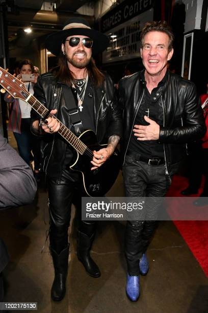 Billy Ray Cyrus and Dennis Quaid attend the 62nd Annual GRAMMY Awards at STAPLES Center on January 26 2020 in Los Angeles California