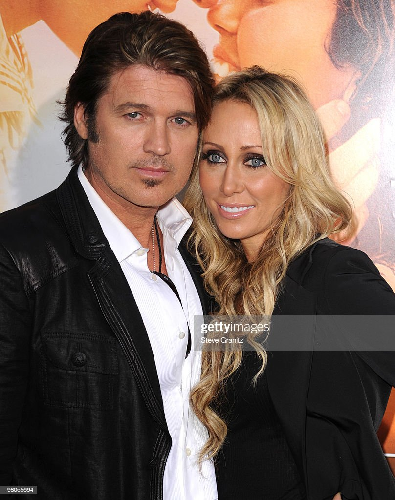 Billy Ray Cyrus and Executive producer Tish Cyrus attends the 'The Last Song' Los Angeles Premiere at ArcLight Hollywood on March 25, 2010 in Hollywood, California.