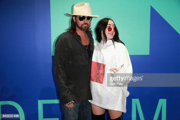 Billy Ray Cyrus and Noah Cyrus attend the 2017 MTV Video Music Awards at The Forum on August 27 2017 in Inglewood California