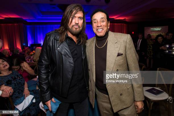 Billy Ray Cyrus and Smokey Robinson attend the Celebrity Fight Night's Founders Club Dinner on March 9 2018 in Phoenix Arizona