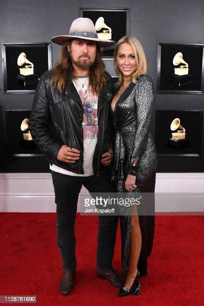 Billy Ray Cyrus and Tish Cyrus attend the 61st Annual GRAMMY Awards at Staples Center on February 10 2019 in Los Angeles California