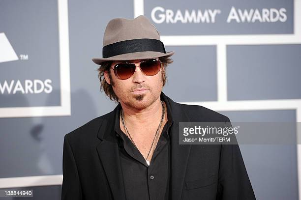 Billy Ray Cyrus arrives at the 54th Annual GRAMMY Awards held at Staples Center on February 12 2012 in Los Angeles California
