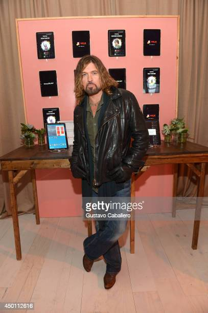 Billy Ray Cyrus at the Samsung Galaxy Artist Lounge at the 2014 CMA Music Festival on June 5 2014 in Nashville Tennessee