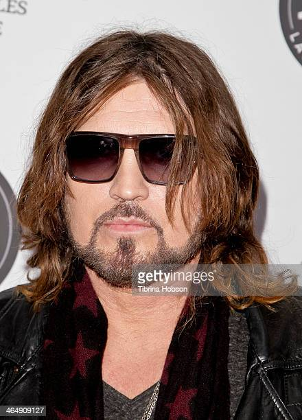Billy Ray Cyrus attends the KIIS 1027 and ALT 987 FM preGrammy party and lounge at JW Marriott Los Angeles at LA LIVE on January 24 2014 in Los...