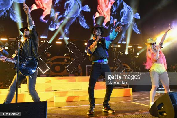 Billy Ray Cyrus Lil Nas X and Cardi B perform at Summer Jam 2019 at MetLife Stadium on June 02 2019 in East Rutherford New Jersey
