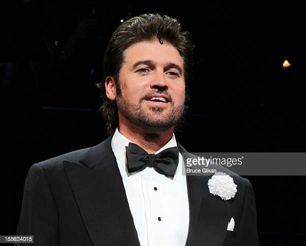 Billy Ray Cyrus makes his Broadway Debut and takes his opening night curtain call as Billy Flynn in Chicago at the Ambassador Theatre on November 5...