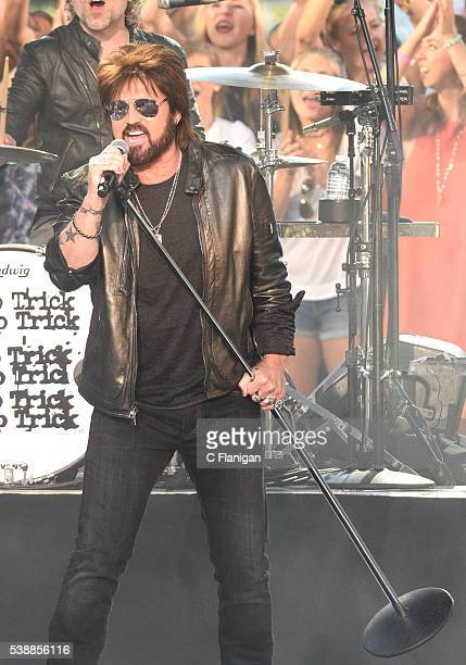 Billy Ray Cyrus performs during the 2016 CMT Music awards at the Bridgestone Arena on June 8 2016 in Nashville Tennessee