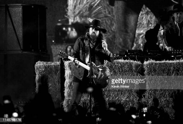 Billy Ray Cyrus performs onstage during the 2019 Stagecoach Festival at Empire Polo Field on April 28, 2019 in Indio, California.